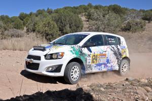 Driver: Ray Piloto & CoDriver: Brock Palmer attack the Arizona Prescott Rally
